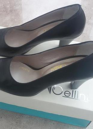 Туфли кожаные вellini турция, 37 р. черный