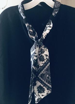 Офисное платье с платком zara