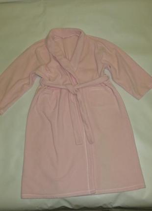 Теплый флисовый халат р.22-24