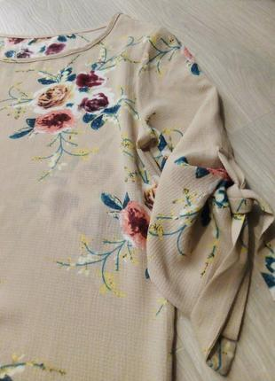 Брендовая туника цветы heidi klum