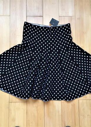 #розвантажуюсь!тёплая двусторонняя юбка в горошек.