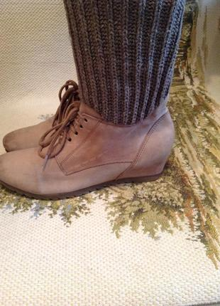 Ботинки (полу сапоги) с вязаным чулком бренда caprice, р. 40 (40,5)