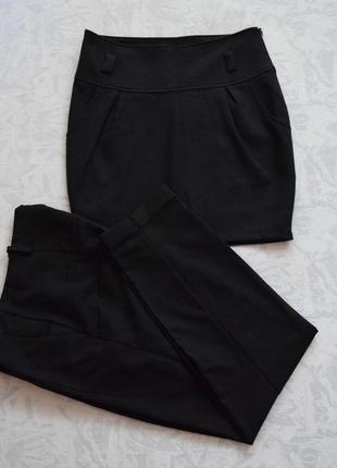 Комплект: теплая юбка миди и брюки