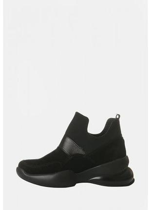 Замшевые высокие кроссовки