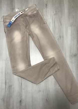Бежевые мужские джинсы cardellino jeans 066 (32)