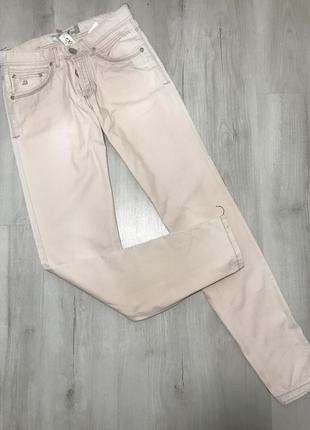 Молочные мужские джинсы cardellino jeans 067 (31)