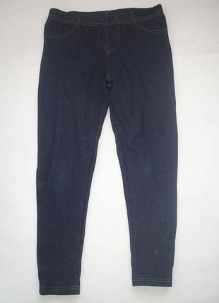 Фирменные primark джинсовые лосины девочке 8-9 лет в идеале