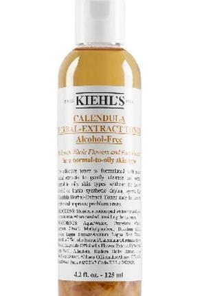 Бесспиртовой тоник с календулой kiehls calendula herbal extract alcohol-free toner, 125 мл