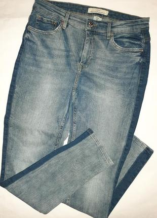 Модные джинсы с лампасами h&m, размер s.
