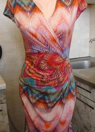 Платье персиково-голубое