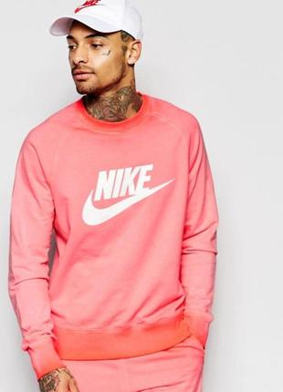 Nike mens aw77 solstice crew neck sweatshirt l свитшот оригинал