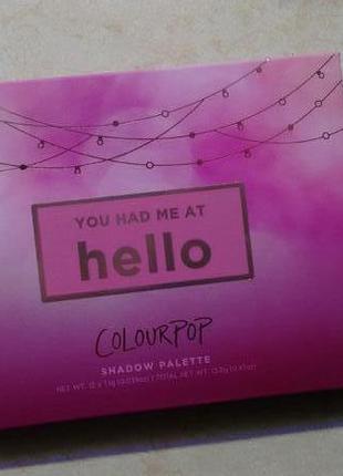 Colourpop you had me at hello палетка