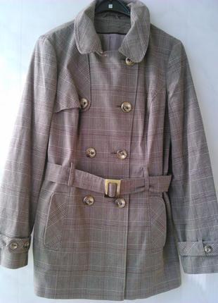 Актуальный  тренч👍 в клетку👌 /лёгкое пальто🍁 /плащ 🍂🌂на подкладке /куртка к осени vietnam