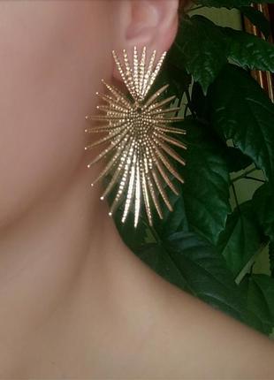 Серьги сережки золото серёжки
