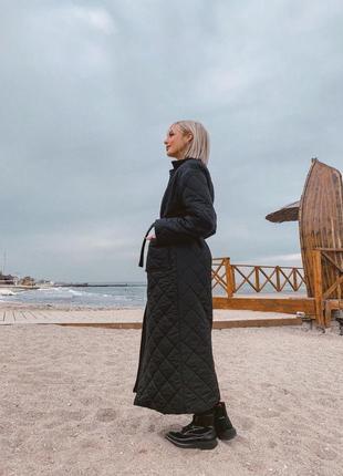 Пальто стеганое -распродажа2 фото