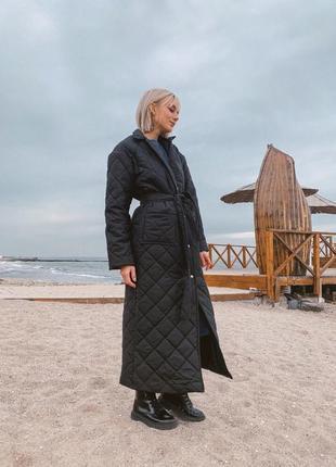 Пальто стеганое -распродажа3 фото