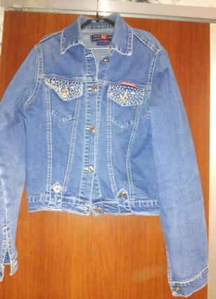 Джинсовый пиджак, куртка, джинсовка