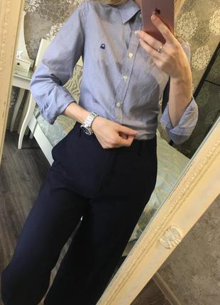 Хлопковая рубашка в полоску benetton