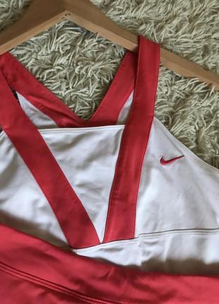 Спортивный костюм теннисный найк nike юбка + майка спортивная