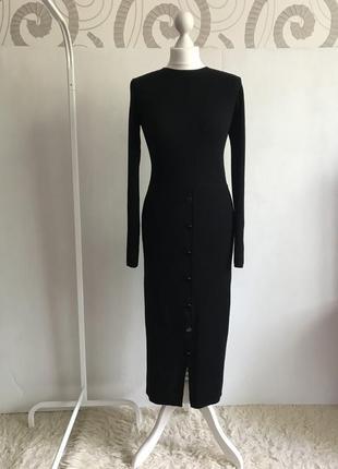 Massimo dutti, шерстяное платье миди