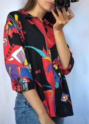 Рубашка с рисунками трендовая стильная
