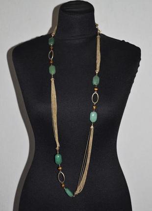 Monet оригинал. винтажное ожерелье, натуральные камни. клеймо