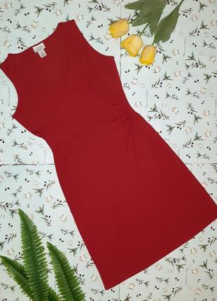Яркое приталенное вечернее красное платье миди ann taylor, размер 40 - 42