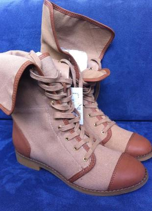 Осенне-весенние женские сапоги-ботинки