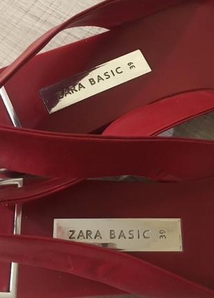Zara босоножки балетки лодочки открытая пятка острый носок