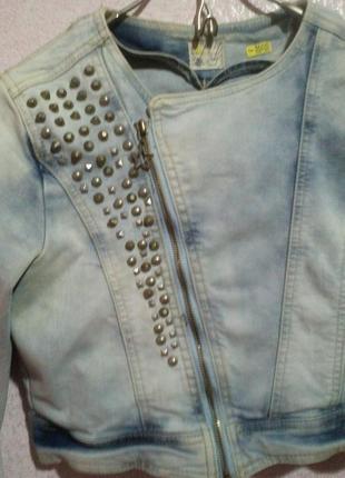 Джинсовая куртка косуха