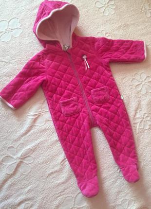Очень красивый комбинезон детский демисезонный розовый на 6 месяцев kanz