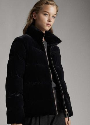 Крутейшая бархатная куртка massimo dutti