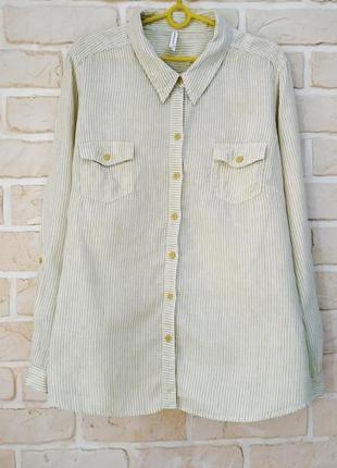Льняная, базовая рубашка
