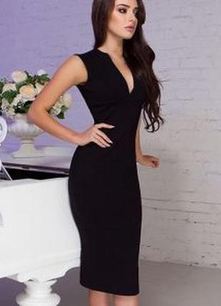 Брендовое черное миди платье с бантом next коттон