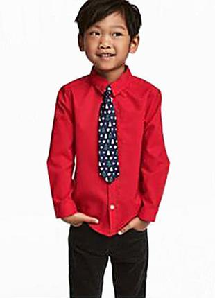 Оригинальная рубашка с галстуком от бренда h&m разм. 128(7-8лет)