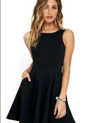 Брендовое черное миди платье new look вискоза