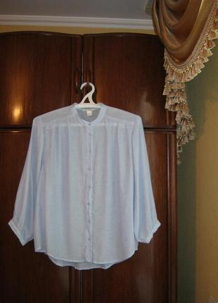 Рубашка оверсайз h&m, вискоза, размер l