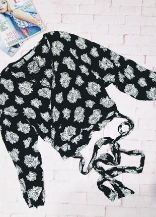 Блуза кофточка топ на запах из мокрого шелка