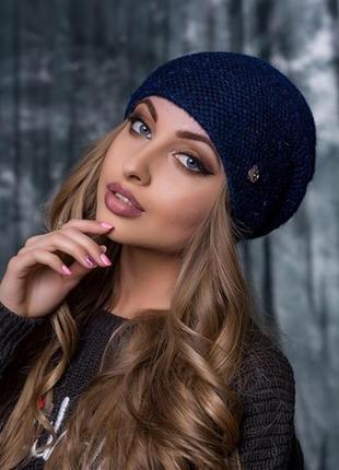 Теплая шапочка нинель