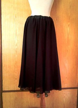 Черная шифоновая юбка, 5хl.