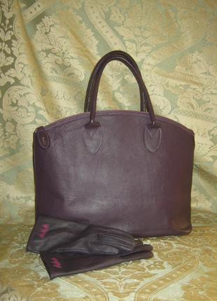 Вorse in pelle большая кожаная сумка + подарок натуральная кожа