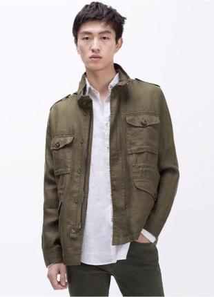 Куртка zara sahara linen jacket