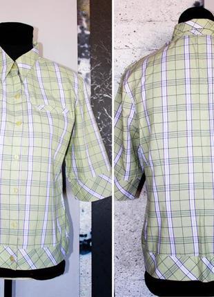 Блуза рубашка в клетку салатовая лайм тренд офис моды студентки