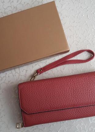 Кожаный кошелек из натуральной кожи шкіряний гаманець кошельок