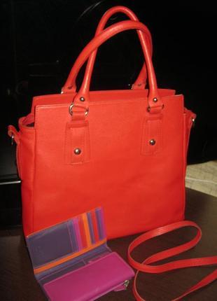 Borse in pelle большая деловая кожаная сумка короткие ручки плечевой ремень + подарок кожа