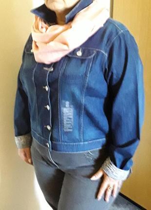 Джинсовая куртка большого размера