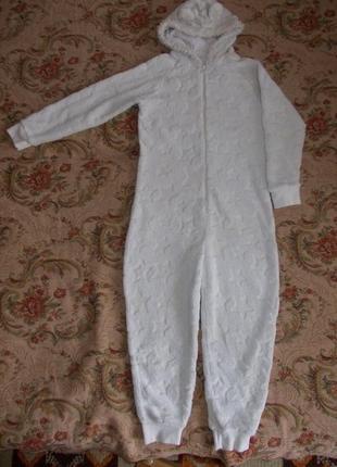 Пижама кигуруми слип человечек на 8-9 лет рост 128-134 см
