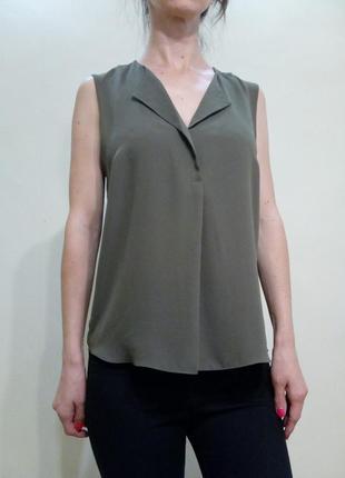 Лёгкая базовая блуза хаки 12