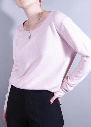 Теплый джемпер, розовый свитер оверсайз