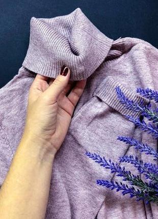 Гольф под горло свитер  шерсть милано цвета